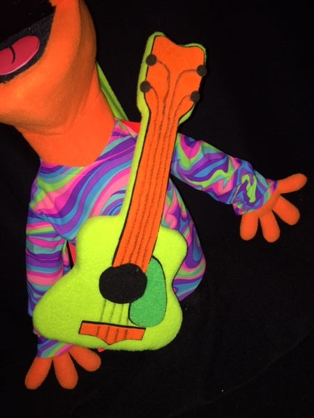 Blacklight puppet prop guitar