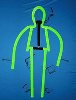 blacklight string bean puppet green