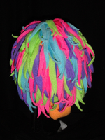 blacklight cerise just a head puppet