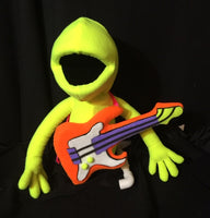 blacklight puppet prop electric guitar