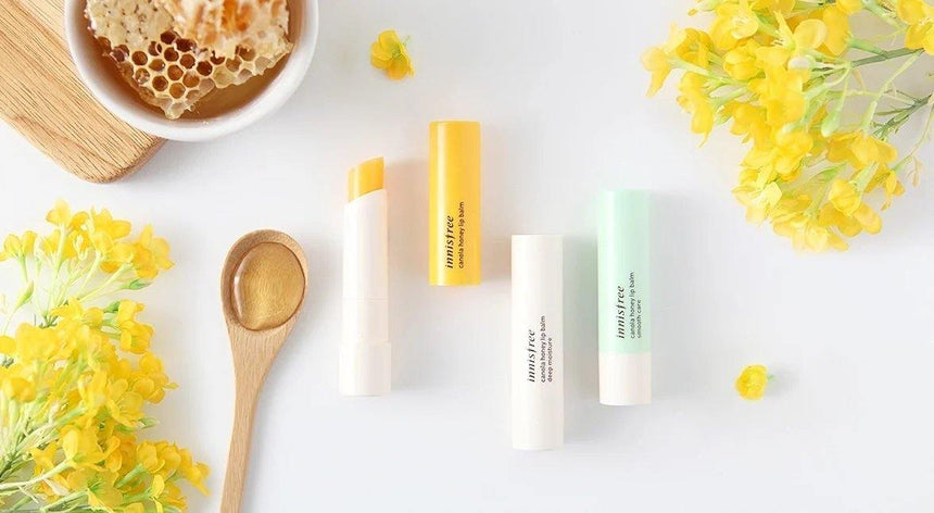 Review son Innisfree Canola Honey Lip Balm | Kallos Vietnam
