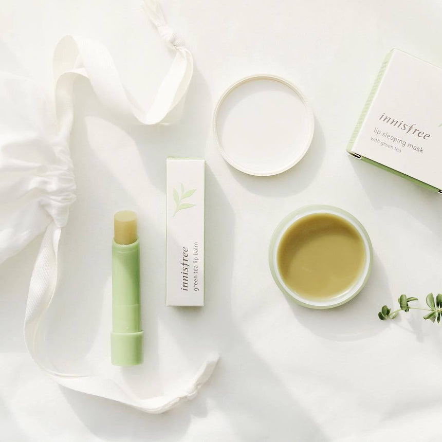 Review son Innisfree Green Tea Lip Balm - Kallos Vietnam