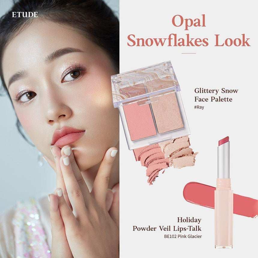 Son Etude House Glittery Snow Powder Veil Lips Talk - Kallos Vietnam