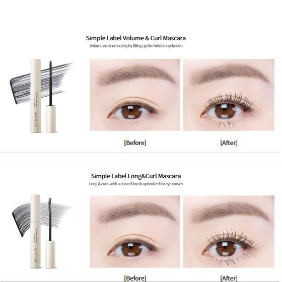 Review Mascara Innisfree Simple Label
