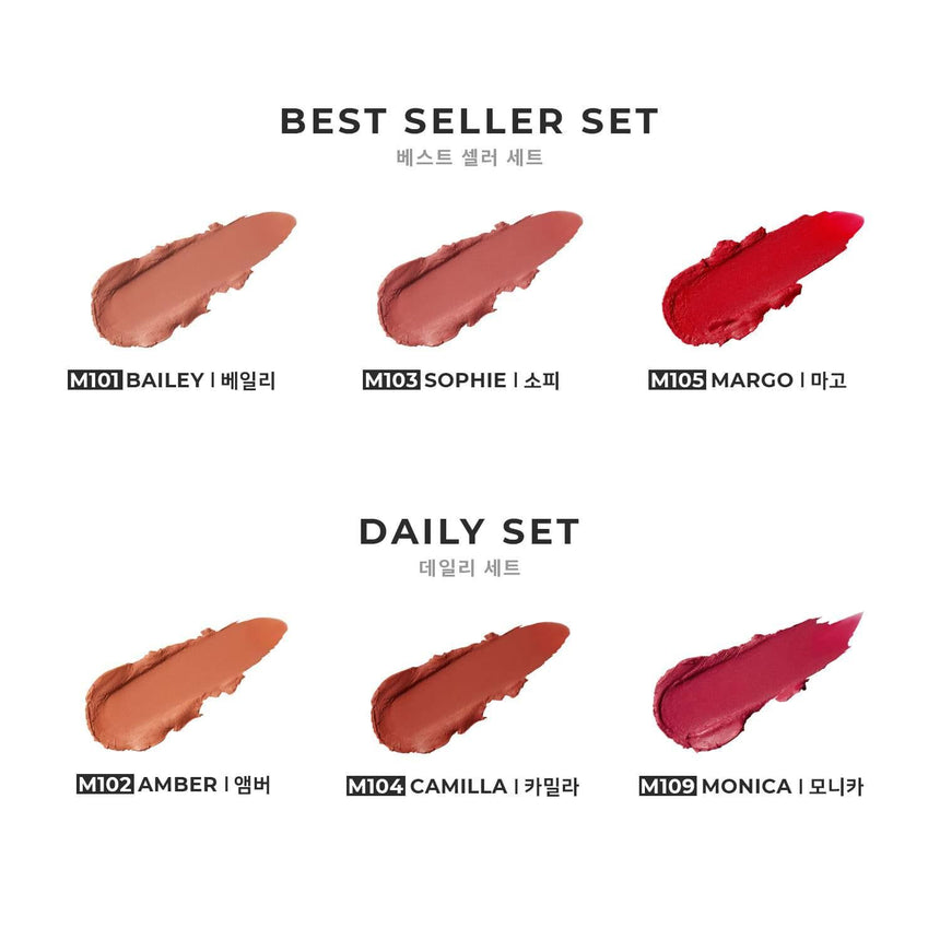 Son Dear Dahlia Lip Paradise Effortless Matte Lipstick Mini Trio - Dear Dahlia - Kallos Vietnam