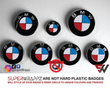 🇬🇧 UK 🇺🇸 USA 🇫🇷 FRANCE 🥐 & 🇷🇺 RUSSIA 🪆 Country Flag Gloss Badge Emblem Overlay FOR BMW Sticker Vinyl Quadrants FITS YOUR BMW'S Hood Trunk Rims Steering Wheel