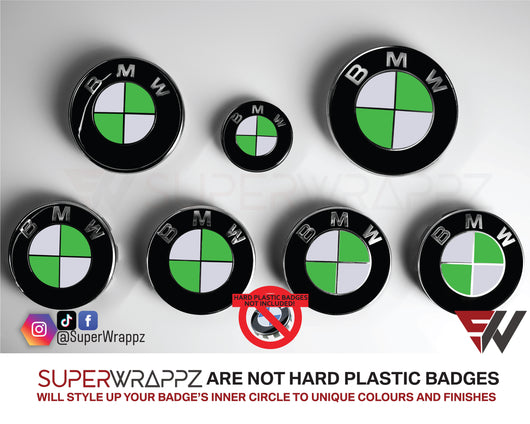 🇮🇪 IRELAND 🍀 Country Flag Gloss Badge Emblem Overlay FOR BMW Sticker Vinyl Quadrants FITS YOUR BMW'S Hood Trunk Rims Steering Wheel