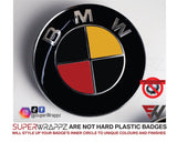 🇩🇪 GERMANY & 🇧🇪 BELGIUM Country Flag Gloss Badge Emblem Overlay FOR BMW Sticker Vinyl Quadrants FITS YOUR BMW'S Hood Trunk Rims Steering Wheel