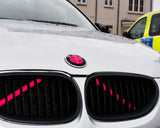 PINK Luminescent V BARS Overlay FOR BMW Vinyl FITS YOUR BMW'S V BRACES / CRASH BARS