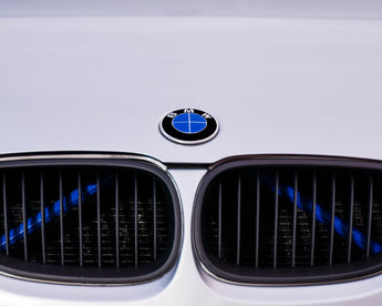 Blue Luminescent V BARS Overlay FOR BMW Vinyl FITS YOUR BMW'S V BRACES / CRASH BARS