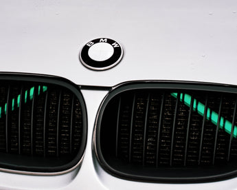 Green Luminescent V BARS Overlay FOR BMW Vinyl FITS YOUR BMW'S V BRACES / CRASH BARS
