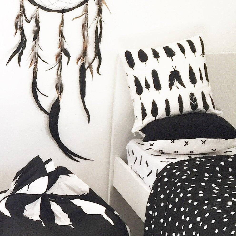 Flying Feathers vs. Criss Cross Cushion