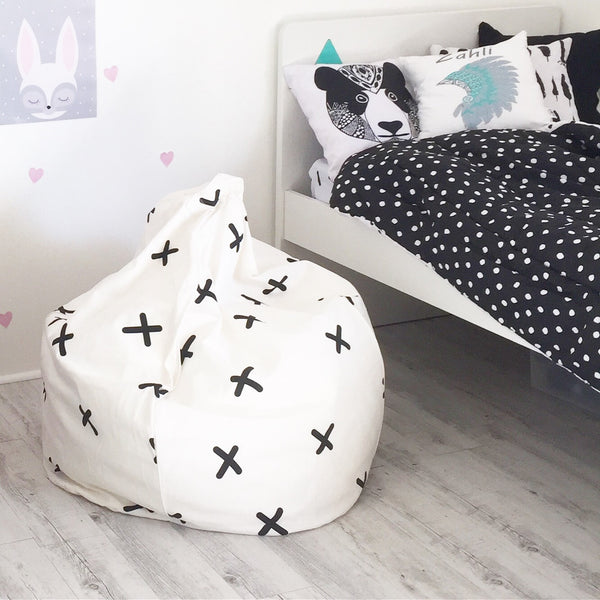 Criss Cross Beanbag - White