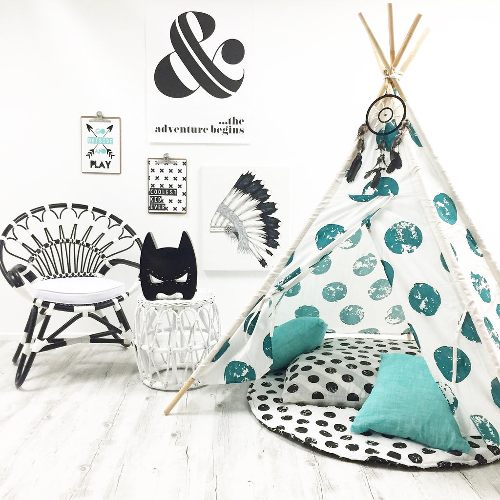 Full Moon Teepee - Forest Green