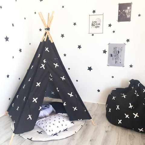 Criss Cross Teepee - Black