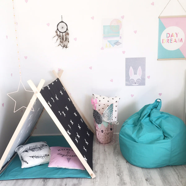 Criss Cross Play Tent - White