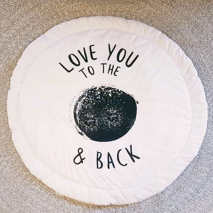 love you to the moon and back mat