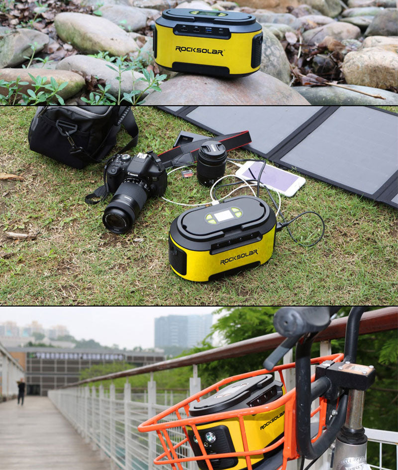 ROCKSOLAR PORTABLE S420 POWER STATION APPLICATION AND USAGES
