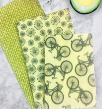 Load image into Gallery viewer, Beeswax Wrap - Spring Bike set/3
