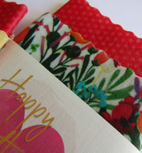 "Load image into Gallery viewer, ""Mother's Day-Happy Birthday-Valentines""-Beeswax Wraps set/2"