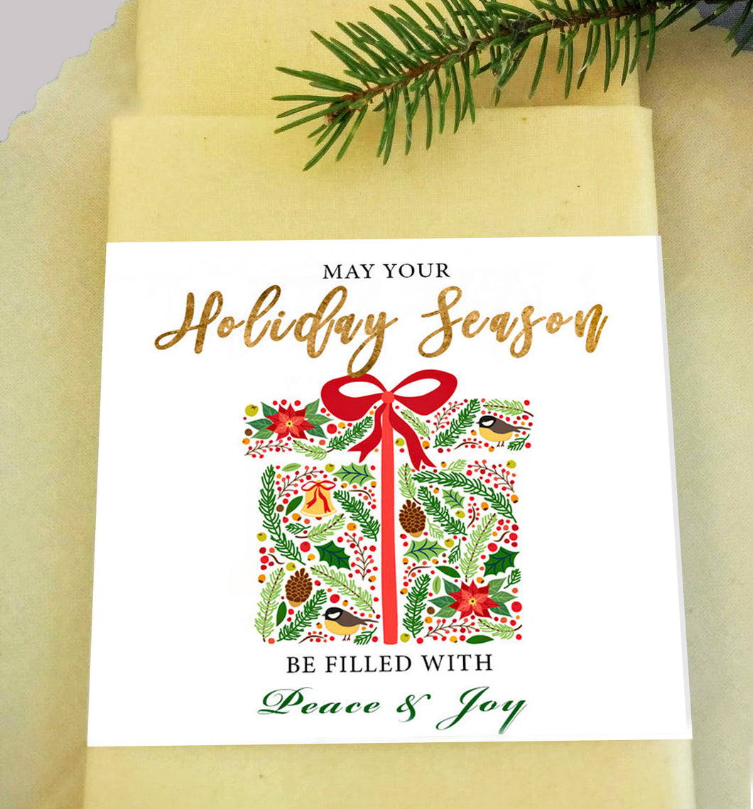 Beeswax Wrap - Holiday Season