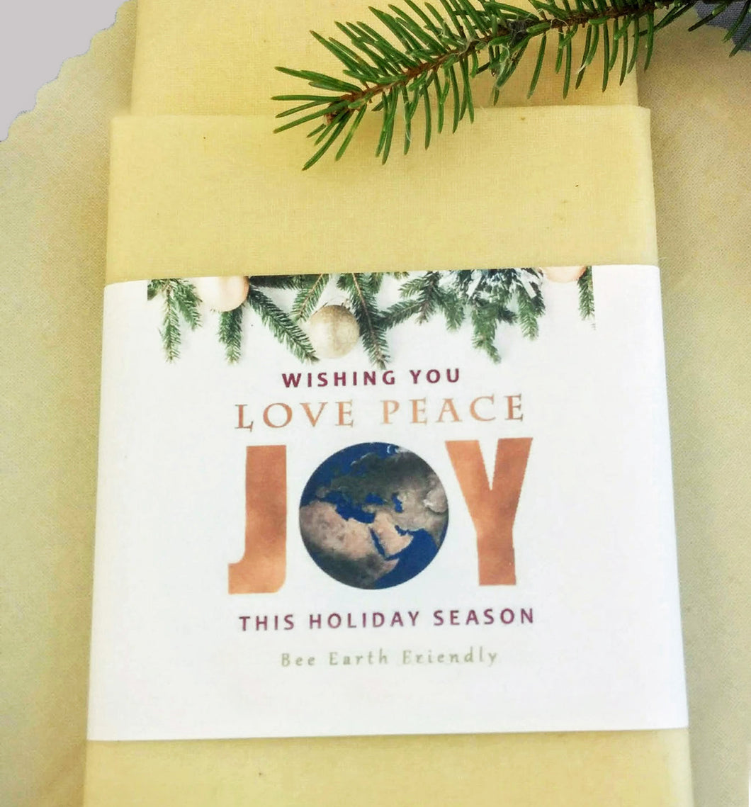 Beeswax Wrap - Love-Peace-Joy