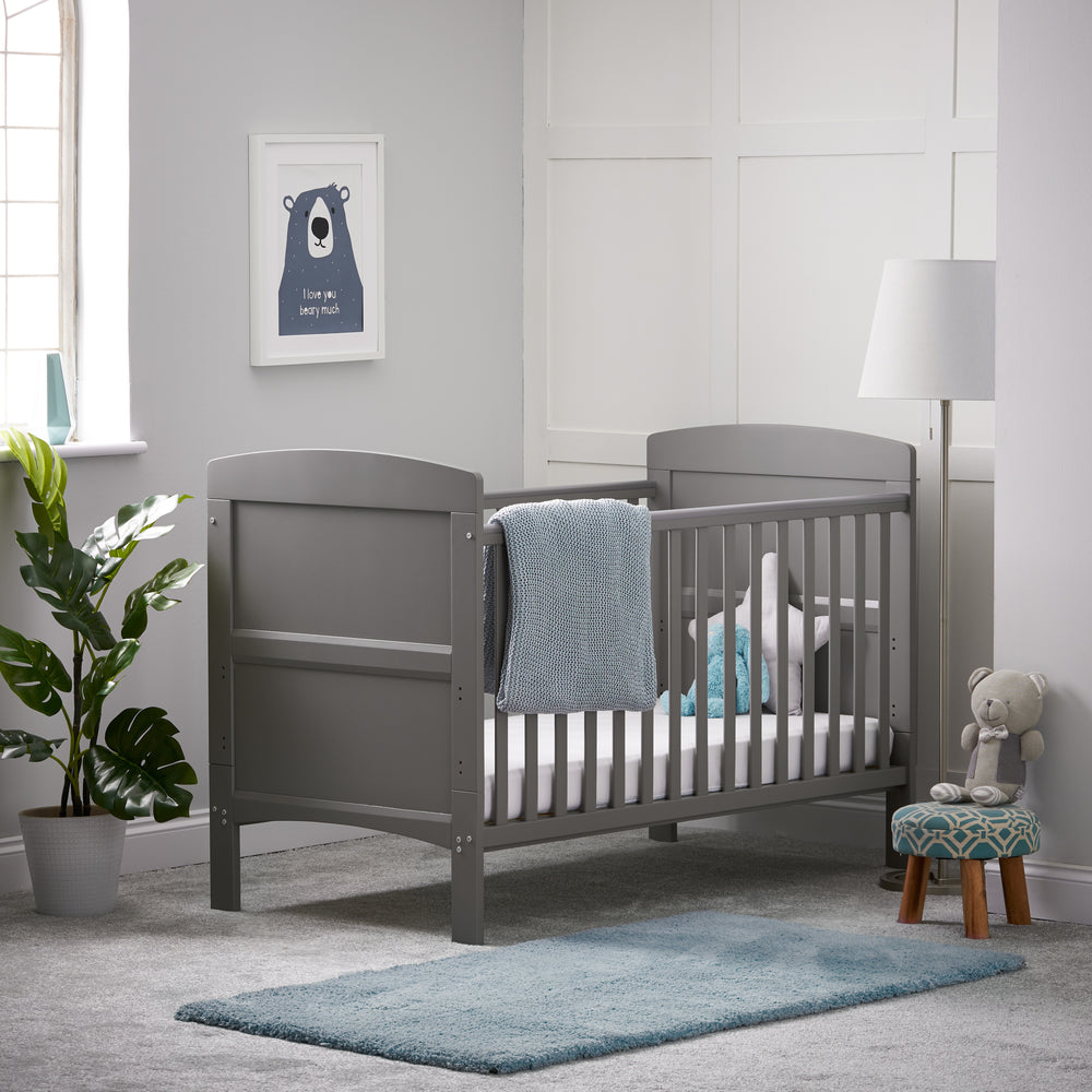 obaby Grace Cotbed Taupre Grey