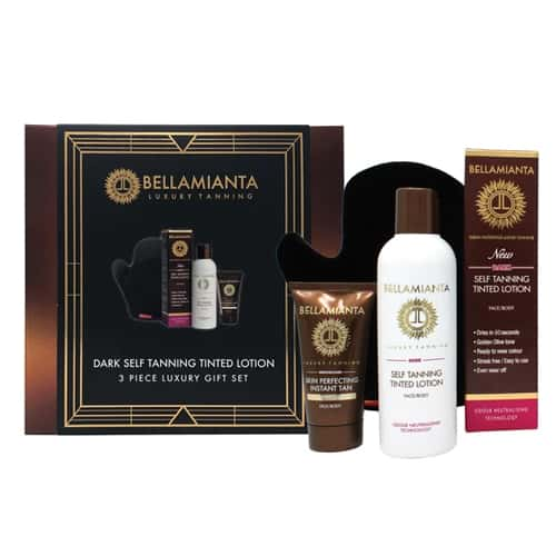BELLAMIANTA DARK LIQUID GOLD TAN SET