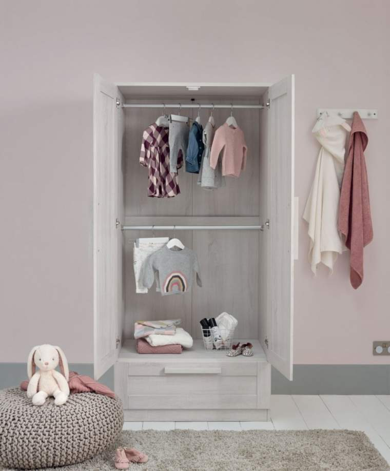 Mamas & papas Atlas Wardrobe in Nimbus White Colour