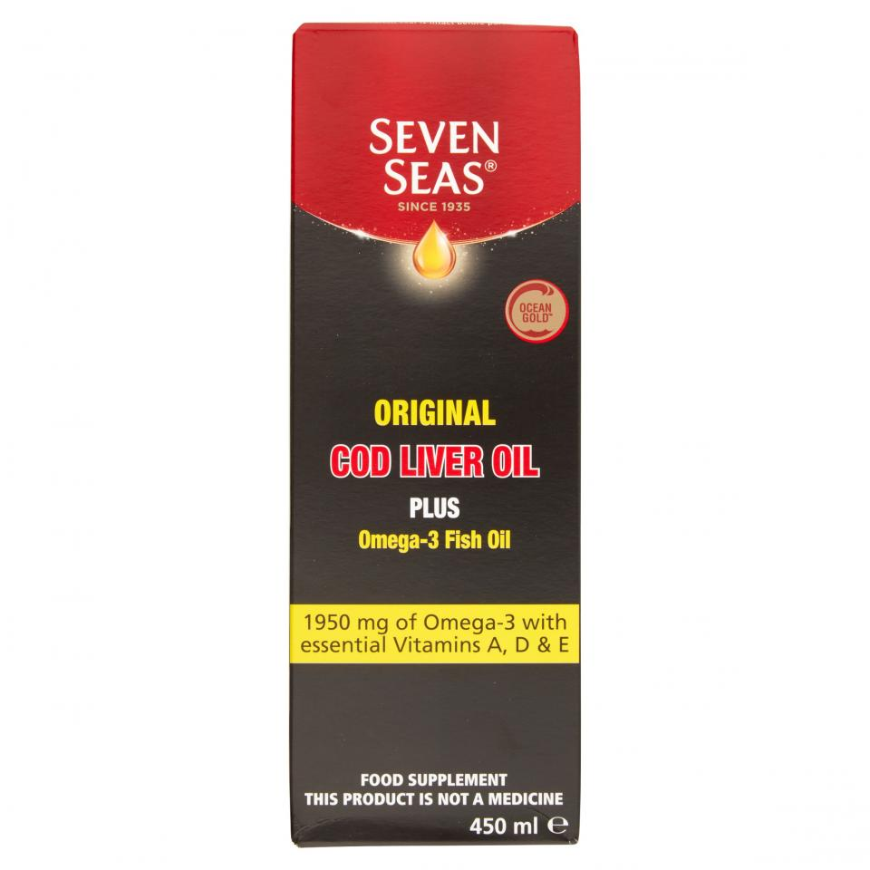 SEVEN SEAS COD LIVER OIL TRADITIONAL LIQUID 450ML