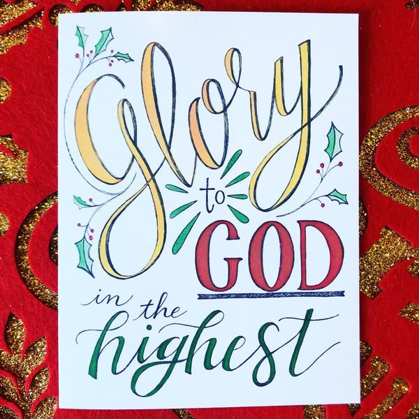Christmas Cards - Glory to God in the Highest