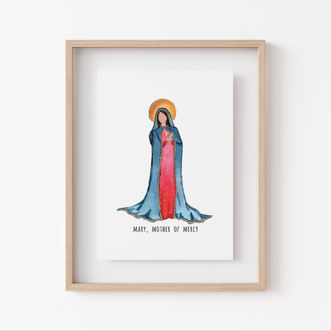 Art Print - Marian Minis - Mary, Mother of Mercy