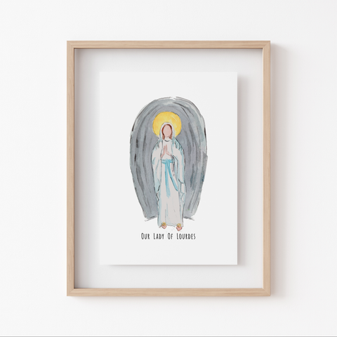 Art Print - Marian Minis - Our Lady of Lourdes