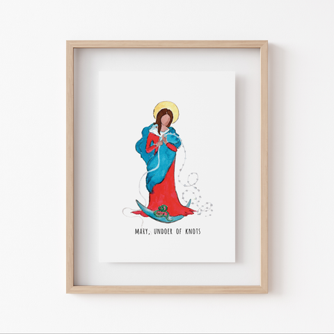 Art Print - Marian Minis - Mary, Undoer of Knots