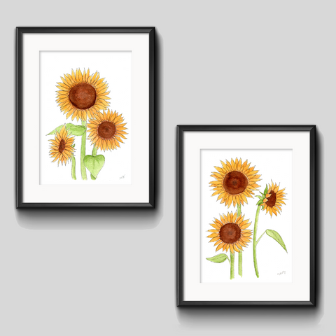 Art Print - Sunflower Duo