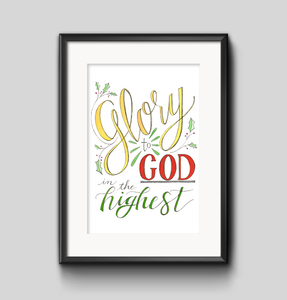 Art Print - Glory to God in the Highest