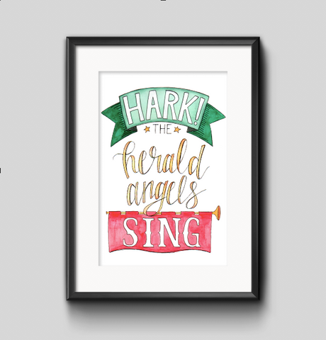 Art Print - Hard the Herald Angels Sing