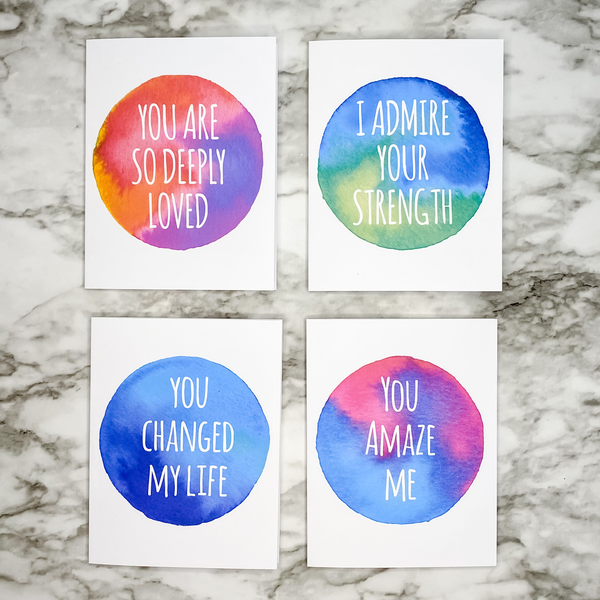 Words of Affirmation Postcard and Note Card Sets