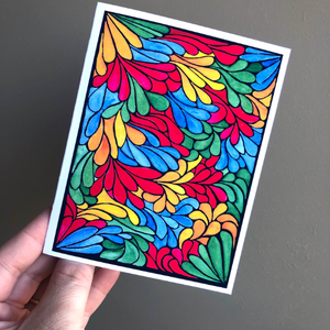 Blank Notecards - Primary Petals