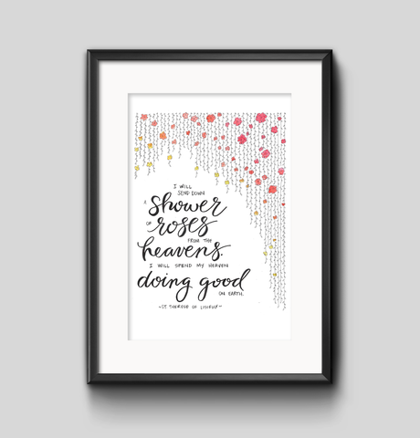 Art Print - Shower of Roses