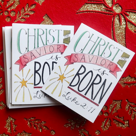 Christmas Cards - Christ the Savior is Born