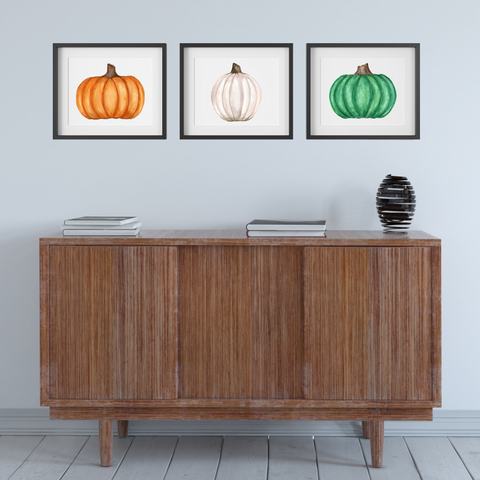 Art Print - Pumpkin Trio