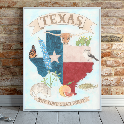 Original Painting - Texas Poster