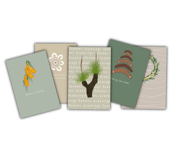 Set of 5 Christmas Collection Cards