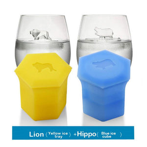 Mysticzone Silicone animal art ice tray