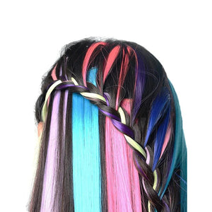 Mysticzone Highlight Color Hair Extensions Clip (12pcs)