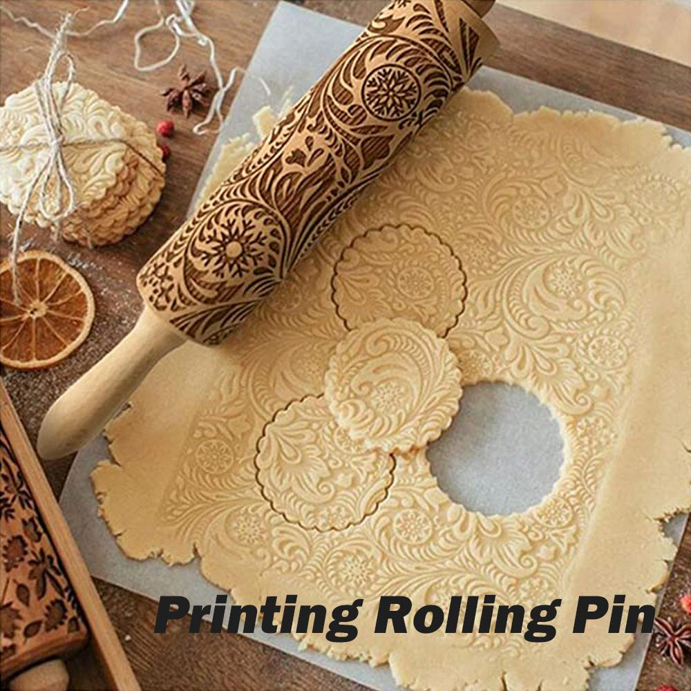 Mysticzone Christmas print rolling pin