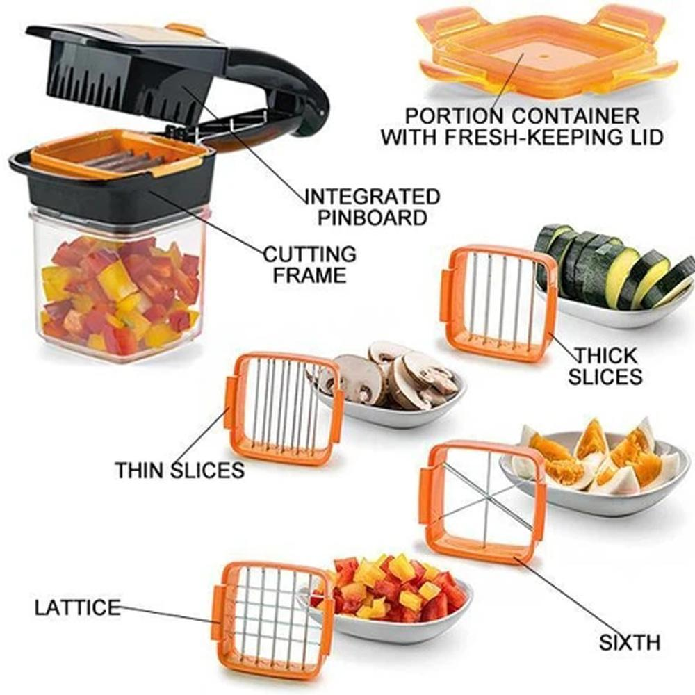 Mysticzone 5 in 1 Fruit and Vegetable Dicer Chopper