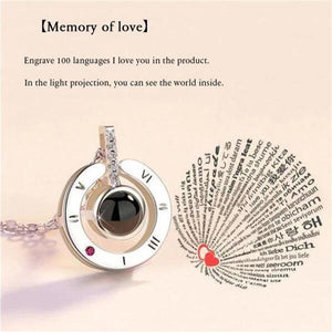 "Mysticzone 100 Languages ""I LOVE YOU"" Ring and Necklace"