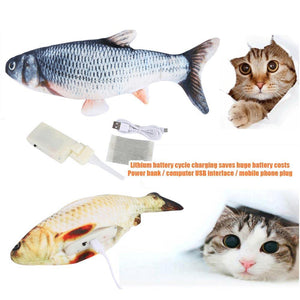 Mysticzone Plush Simulation Electric Doll Interactive Toy Fish For Kids And Cats